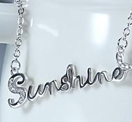 S925 Silver Star Diamond Sterling Silver Pendant  Jewelry Korean Alphabet Sunshine