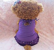 holdhoney lila / rot / blauem Baumwollrock mit Schulterbügel für Haustiere Hunde (verschiedene Größen, Farben) # lt15050164
