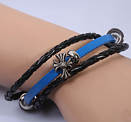European  Fashion Retro Leather Hand Ring Series 2 Wrap Bracelets Wedding/Party/Daily/Casual 1pc