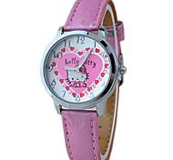 Kid's Pink Hello Kitty Cute Cartoon Wrist Watch