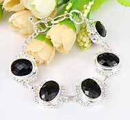Chain Bracelets 1pc Oval Silver Silver Plated Jewelry Gifts