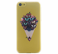 Modelo de mariposa ultrafino caso duro para el iphone 5c