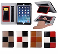 "9.7""Inch Color Matching Pattern Luxury Genuine Leather Wallet Case with Stand for iPad 2/3/4(Assorted Colors)"