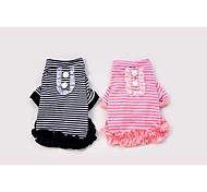 Dog Shirt / T-Shirt Black / Pink Summer Stripe