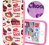 2-in-1 Bling Bling Chocolate Cakes Pattern PC Back Cover with PC Bumper Shockproof Hard Case for iPhone 6