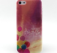 ballon patroon TPU materiaal zacht telefoon Case voor iPhone 5c