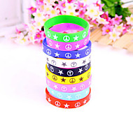 HUALUO®Color Star Antiwar Pattern Silicone Bracelets(Random Color)