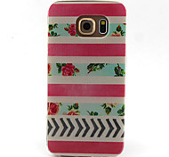 Stripe  Pattern TPU Painted Soft Back Cover for GALAXY S6/S6 edge S5/S5Mini S4/S4Mini S3/S3Mini