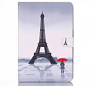 zendmast patroon pu lederen full body case met standaard voor Samsung Galaxy Tab 9.7 een T550