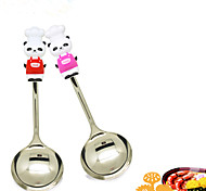 Panda Shaped Handle Stainless Steel Soup Spoon Relax Tableware (Random Color)