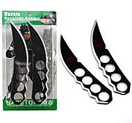 Arme Inspiré par Naruto Cosplay Anime Accessoires de Cosplay Arme Noir / Argenté Alliage Masculin