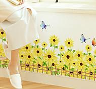 African Chrysanthemum Butterflies PVC Wall Sticker Wall Decals