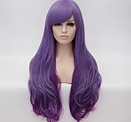 alambre de alta temperatura europeo y americano de alta calidad chica pelucas de cabello de moda oleada necesaria