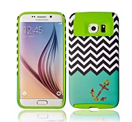 High-Grade Fashion 3D Pattern Good Quality Silicone+PC Back Cover for Samsung Galaxy S6