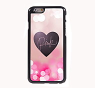 Pink and Heart Design Aluminum Hard Case for iPhone 6