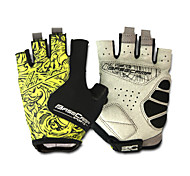 Basecamp Silica GeL Lycra Soft Mat Short Ride Bycicle Semi-finger Gloves Green And Black BC-202