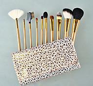 10 pcs Golden Design Goat Hair Qualtiy Makeup Brush Set