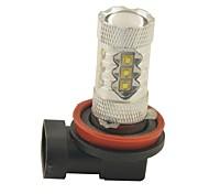 carking ™ h8 / H11 80w 6000k 16smd 2800ml белый свет светодиодные противотуманные фары Фара вождения лампы (DC 12V)