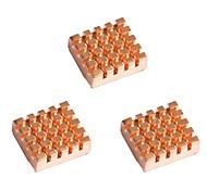 Himbeerkuchen Himbeer pi zwei kleine Goldfisch Kupfer-Kühlkörper 3 14 * 12 * 5,5 mm