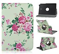 bloemenpatroon 360 graden roating full body case met standaard voor Samsung Galaxy Tab een 9,7 T550 / 8 T350