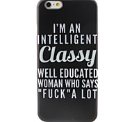 White Letters Pattern TPU Material Phone Case for iPhone 6