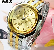 Men's Generous Fashion Contracted Three Eyes Six Stitches Quartz Analog Leather Band Wrist Watch(Assorted Colors)