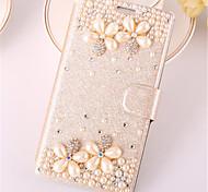 Для Samsung Galaxy Note7 Бумажник для карт / Стразы / со стендом / Флип Кейс для Чехол Кейс для 3D в мультяшном стиле Искусственная кожа