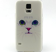 Для Кейс для  Samsung Galaxy С узором Кейс для Задняя крышка Кейс для Кот TPU SamsungS6 edge / S6 / S5 Mini / S5 / S4 Mini / S4 / S3 Mini