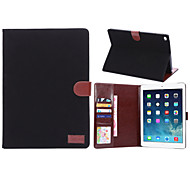 Canvas Style PU Leather Case Card Slots & Wallet with Holder for iPad Air 2 (Assorted Colors)
