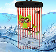 Green Owl Pattern Transparent Waterproof Touchscreen for iPhone 6
