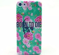 Safflower Green Background Pattern PC Material Phone Case for iPhone 5C