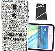 2-em-1 mantenha a calma e sorrir padrão TPU tampa traseira com amortecedor pc soft case à prova de choque para Samsung Galaxy a5 / a500f