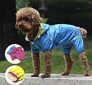 Red/Blue/Yellow Double Layer Mesh Waterproof Nylon Dog RainCoat