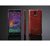 Para Samsung Galaxy Note Soporte de Coche Funda Cubierta Trasera Funda Un Color Cuero Sintético Samsung Note 4