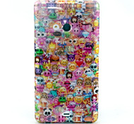 Lovely Face Pattern Glitter TPU Cell Phone Soft Shell For Nokia Lumia N535 / Microsoft Lumia 535