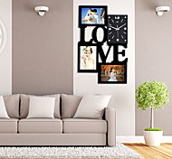 Wall Clock with Fashion Love Picture Frame Function Design