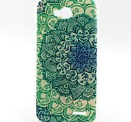 Green Flowers Pattern TPU Material Soft Phone Case for LG L90 D405