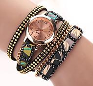 2015  New Summer Style Leather Star Bracelet Wristwatch Dress Watches Women Top Brand Luxury Gold Quartz Watch Cool Watches Unique Watches