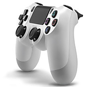 Kinghan® Wired Dual Shock Game Controller for PS4 & Computer (Black & White)