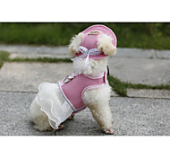 Dog Dresses - S / M / L / XL - Summer - Blue / Pink Nylon