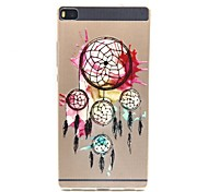 Hydrangea Ethnic Feel Thin Protective Sleeve PTU for Huawei P7/P8