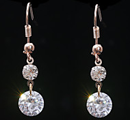 Europe  Fashion Size Double Diamond  Drop Earrings Wedding/Party/Daily/Casual 2pcs