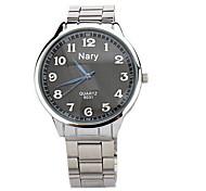 Men's classic digital timeless steel waterproof quartz watch