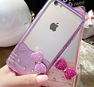 Take Bowknot Silica Gel Pattern Back Case for iphone6 (