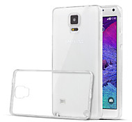 Special Design High-Grade TPU Ultra-Thin Transparent Back Shell for Samsung Galaxy NOTE 4