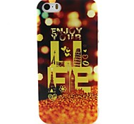 Yellow Letters Pattern TPU Material Phone Case for iPhone 5/5S