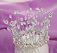 China Style Wedding Bride Crown Jewelry Sterling Silver/Crystal Tiaras Wedding/Party 1pc
