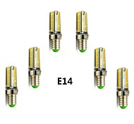 6pcs E14/G9 5W 104x3014SMD 420LM Warm White/Cool White Light LED Corn Bulb(AC200-240V)