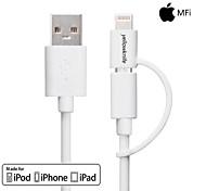 yellowknife® mfi 2-in-1 USB-Blitz auf 8-Pin + Micro-USB-Lade- / Daten-Synchronisierungs-Kabel für iPhone / Samsung und andere 1m