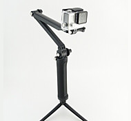 Accessories For GoPro Telescopic Pole 3-Way Adjustable Pivot Arm Monopod Tripod Hand Grips/Finger Grooves Mount/Holder 3-Way, For-Action